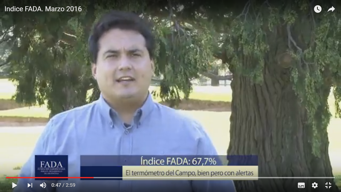 Índice FADA Marzo 2016- David Miazzo – Coord. Investigaciones FADA
