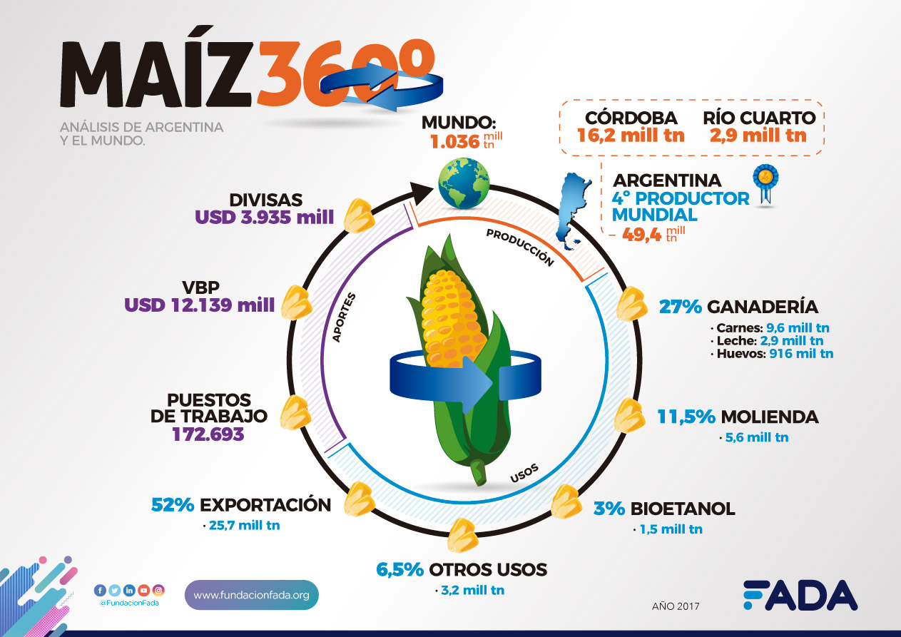 Maíz 360. Análisis de Argentina y el mundo